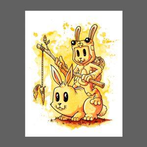 Bunny x3 Print