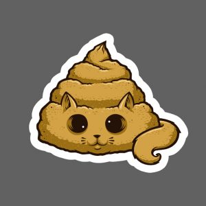 Poo Cat Sticker