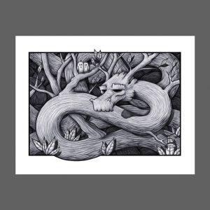 Tree Dragon Print