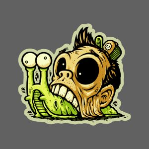Zombie Snail Sticker